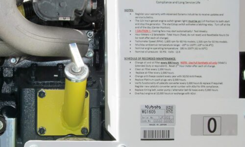 500 Series Generator Oil Fill